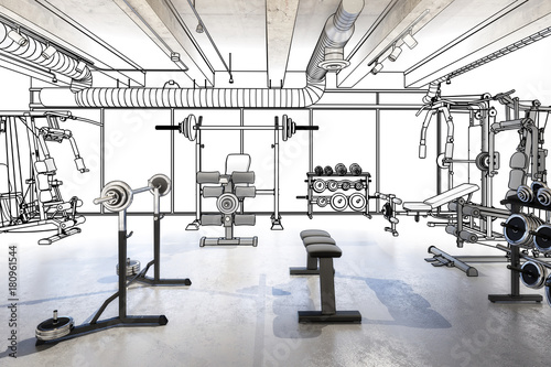 Weights Room (planing) © arsdigital