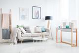Ladder in bohemian living room - 180965331