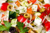 greek salad, macro - 180975166