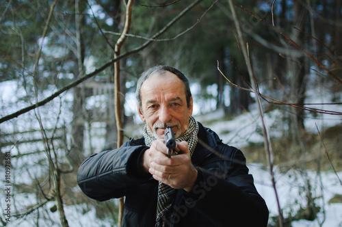 Fotobehang Jacht The man with the gun