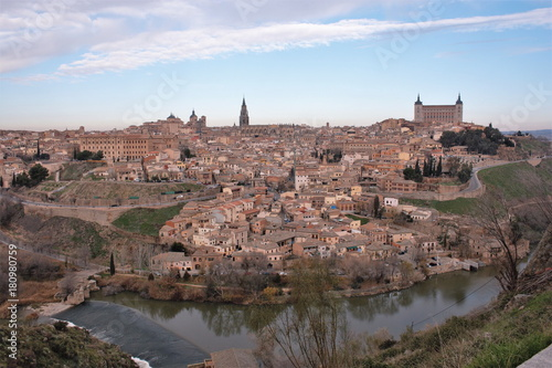 Papiers peints Cappuccino View of the streets of the city of Toledo, Spain,