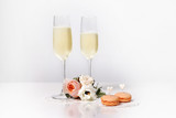 Two glasses with champagne - 180988342