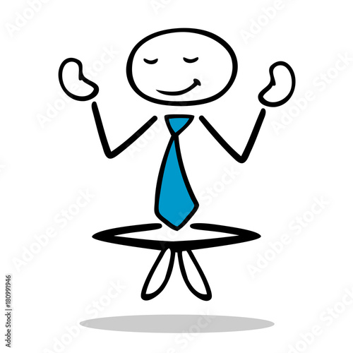 Wall mural Geschäftsmann macht Yoga zur Entspannung