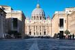 Città del vaticano con basilica di san pietro -  Roma , italia