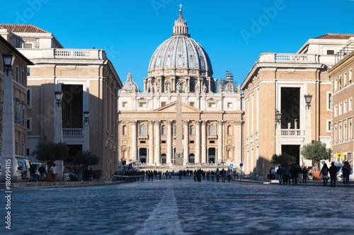 Foto op Canvas Rome Città del vaticano con basilica di san pietro - Roma , italia