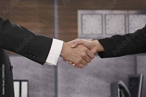 Closeup handshake