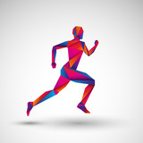 biegacz wektor
