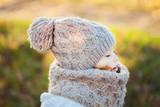 Autumn outdoor, toddler girl walking outdoors. - 181001540