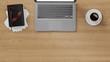 Laptop Computer auf Schreibtisch im Büro