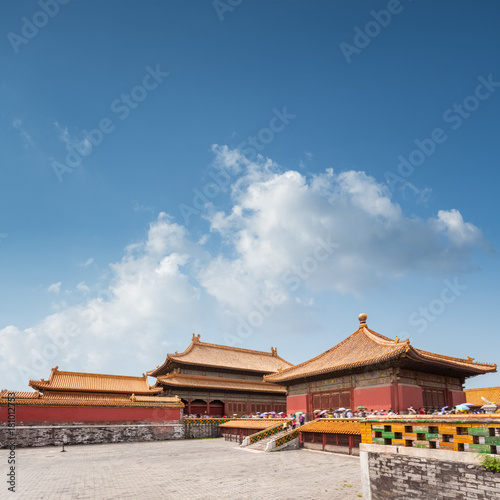 Papiers peints Pekin beijing forbidden city against blue sky