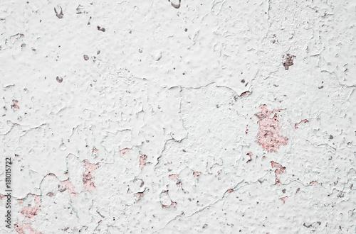 Papiers peints Beton White concrete wall / Old white concrete wall with peeling paint.