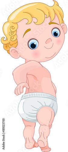Foto op Aluminium Sprookjeswereld Cute Baby