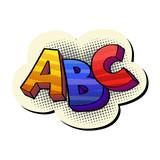 abc pop-art sticker - 181025971