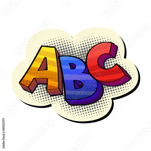 Papiers peints Pop Art abc pop-art sticker