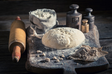 Made of fresh ingredients traditionally and delicious dough for bread