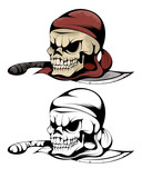 Two Skulls Of Pirate Wall Sticker