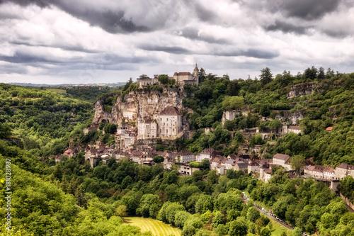 Rocamadour village in the Dordogne, France.