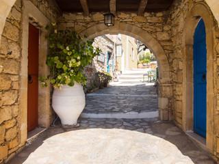 Arolithos, Cretan traditional village in Crete, Greece