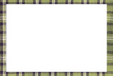 green Tartan type Scottish frame with a white space to write a m - 181049737