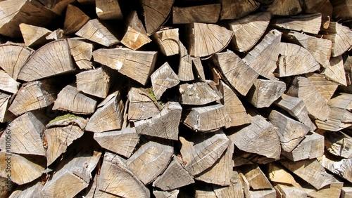 Deurstickers Brandhout textuur Lagerholz