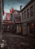 St. Catherine's Passage, old beautiful medieval street in Tallinn, Estonia.