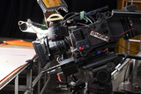 Professional digital video camera. cinematography in the pavilion - 181059913