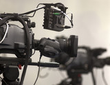 Professional digital video camera. cinematography in the pavilion - 181059946