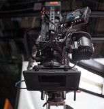 Professional digital video camera. cinematography in the pavilion - 181059950