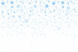Fototapety Christmas snow. Falling snowflakes on white background. Snowfall. Vector illustration, eps 10.