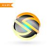 S 3D Logo