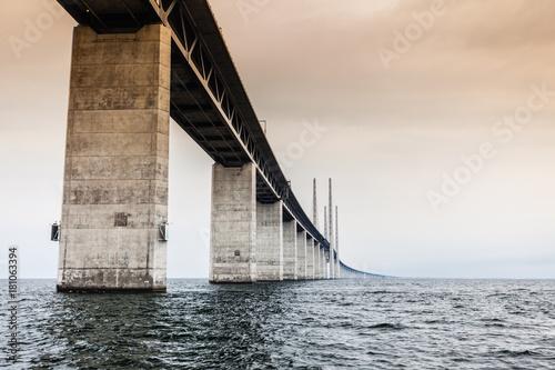 Sticker the oresund bridge between denmark and sweden
