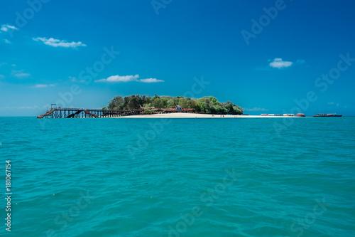 Aluminium Tropical strand Prison Island, Zanzibar, Tanzania