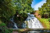 Chervonogorodsky, Dzhurynsky waterfall in Nyrkiv on the Dzhuryn river. Ternopilska oblast, Ukraine.