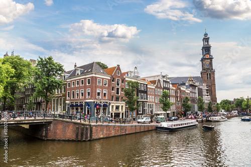 Foto op Aluminium Amsterdam Westerkerk in Amsterdam