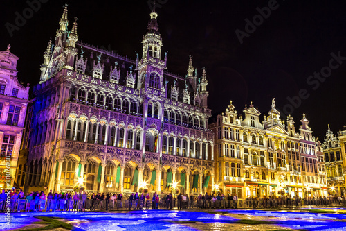 Staande foto Brussel The Grand Place in Brussels