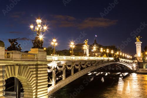 Bridge of the Alexandre III in Paris Poster