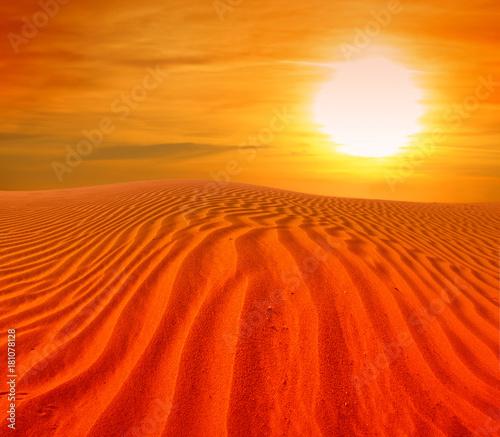Tuinposter Rood sand desert landscape