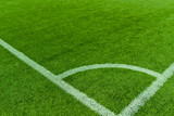 Corner Football field. Sport stadium. Grass background. healthy concept