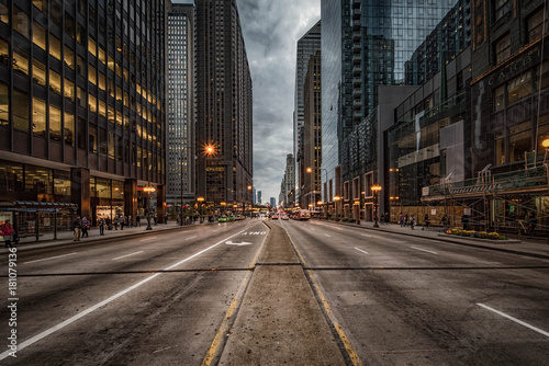 Staande foto Chicago Michigan Avenue