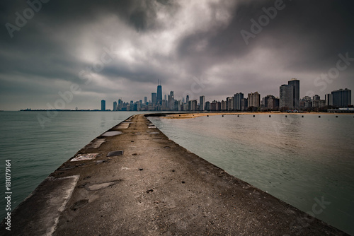 Chicago from North Avenue Beach Poster