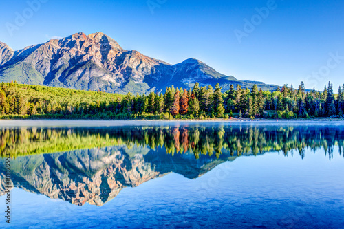 Patricia Lake at Jasper National Park in Alberta, Canada Poster