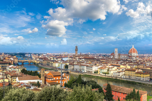 Tuinposter Florence Panoramic view of Florence