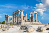 Aphaia temple on Aegina island, Greece - 181082712