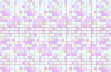 Pastel Squares Tabloid Sized Illustration