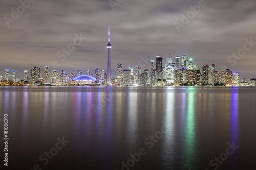 Papiers peints Canada Skyline of Toronto at night, Canada