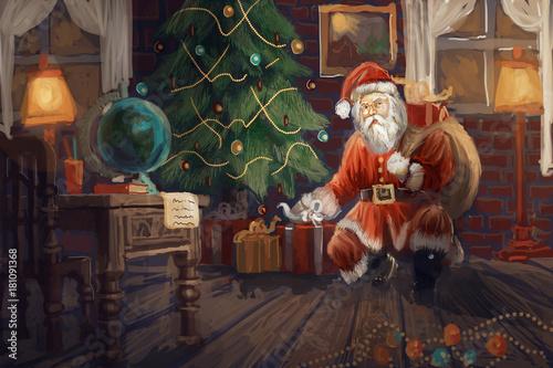 Santa bring gifts  © vukkostic