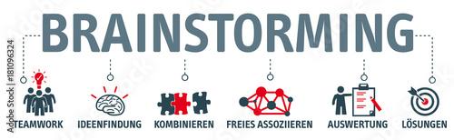 Banner Brainstorming Konzept mit Vektor icons © Trueffelpix