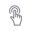 Support service line icon mouse click