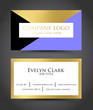 Beautiful geometric, golden, business card template VECTOR