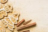 Christmas homemade gingerbread cookies and cinnamon  - 181100111